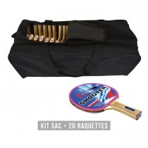 KIT 20 RAQUETTES SHOOTER + sac