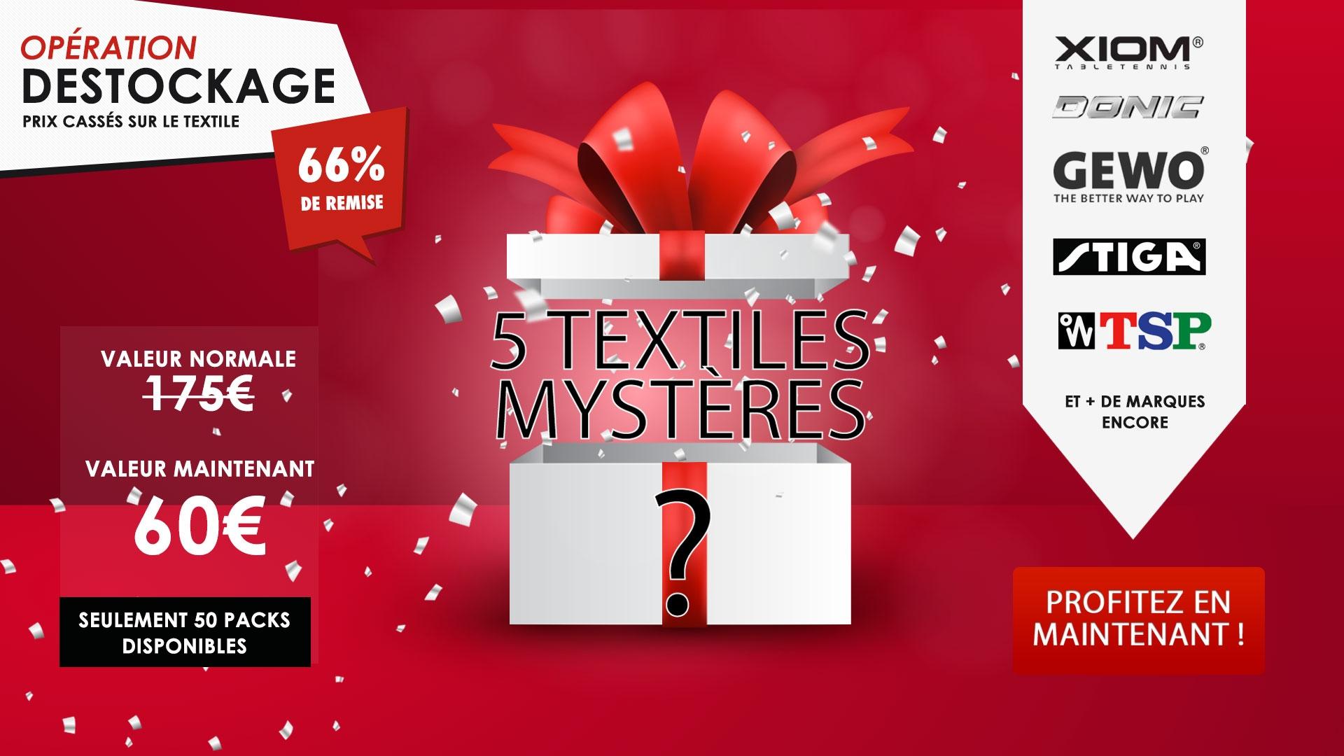 Destockage sur le textile chez Misterping