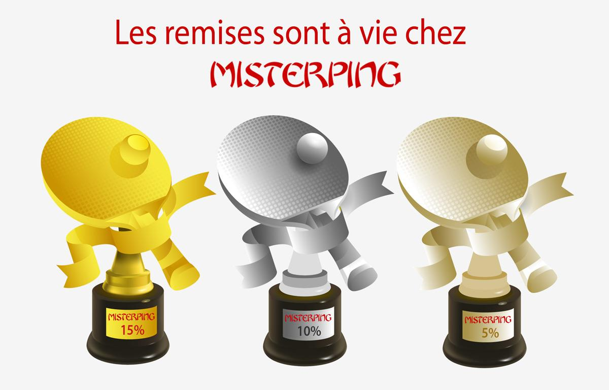 Les remises sont à vie chez Misterping